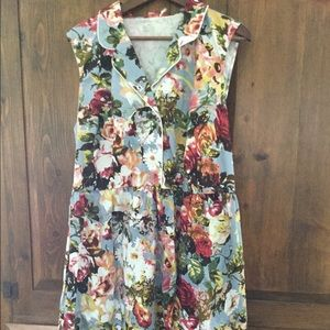 Professional summer floral dress